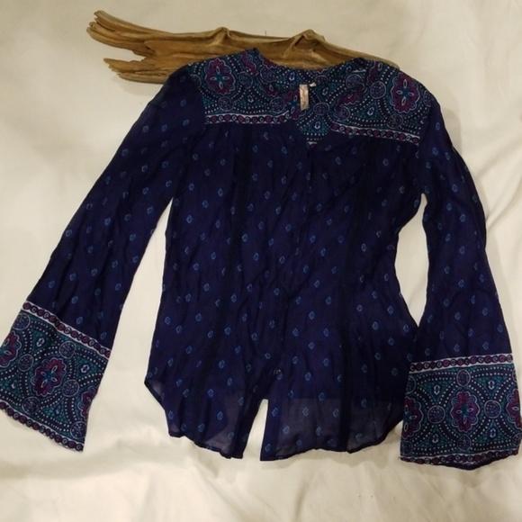1195eaec3d08 Brand NWT Red Camel Boho Button Down Shirt XS